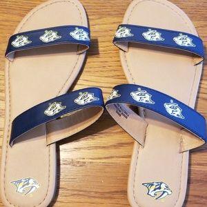 NHL Nashville Predators sandals
